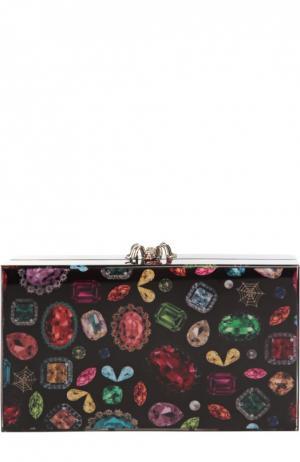 Клатч Pandora с принтом Jewel Charlotte Olympia. Цвет: разноцветный