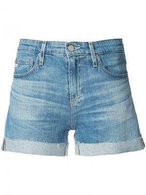 Джинсовые шорты Ag Jeans. Цвет: синий