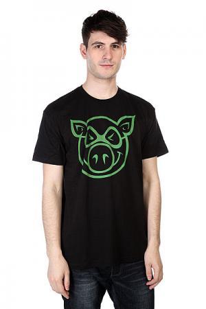 Футболка  Basic Slimfit Black Pig. Цвет: черный