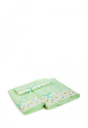 Комплект полотенец 3 шт. La Pastel. Цвет: зеленый