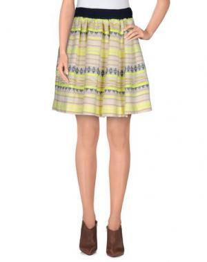 Мини-юбка NIOI. Цвет: желтый