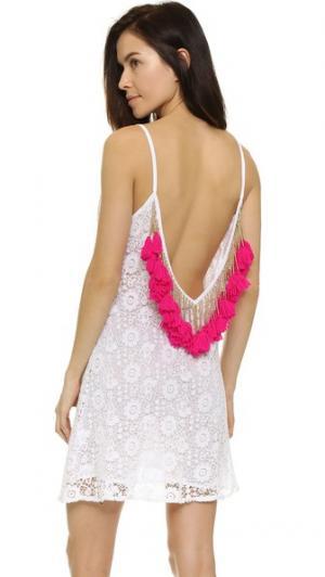 Короткое пляжное платье Lana SUNDRESS. Цвет: розовый