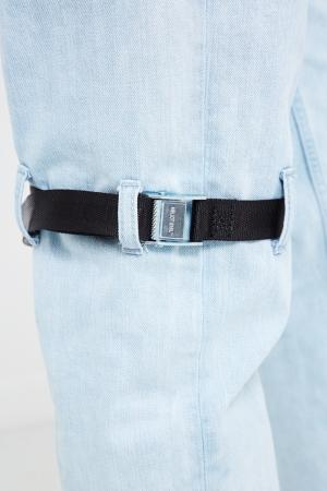 Голубые джинсы с ремнями Heliot Emil. Цвет: синий