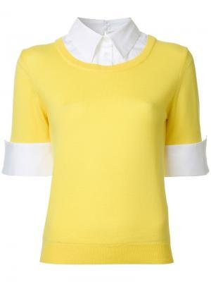 Джемпер Ella Mary Katrantzou. Цвет: жёлтый и оранжевый