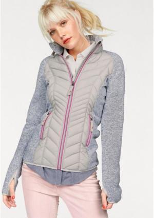 Куртка Kangaroos. Цвет: серый меланжевый/ярко-розовый