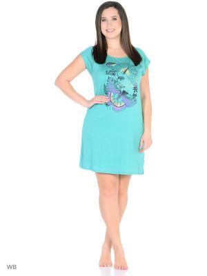 Ночная сорочка Litvin. Цвет: зеленый