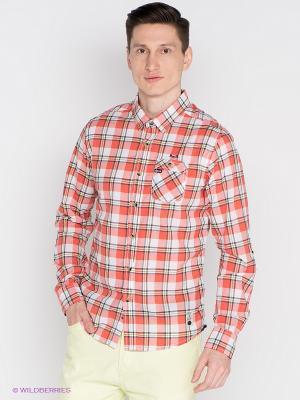 Рубашка Mezaguz. Цвет: оранжевый, желтый, синий