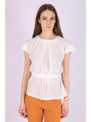 Блузка FLEURETTA. Цвет: молочный