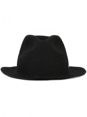 Шляпа-федора Strong Super Duper Hats. Цвет: чёрный