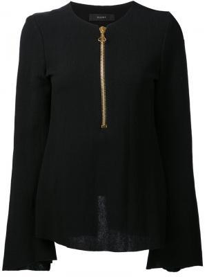 Блузка на молнии спереди Ellery. Цвет: чёрный