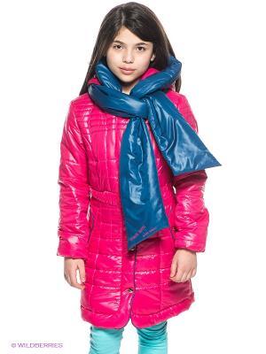Пальто MES AMI. Цвет: фуксия, темно-синий