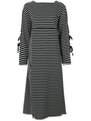 Платье с длинными рукавами и завязкой 3.1 Phillip Lim. Цвет: чёрный