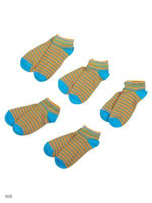Носки детские (комплект 5 пар) Тульский трикотаж. Цвет: голубой, оранжевый