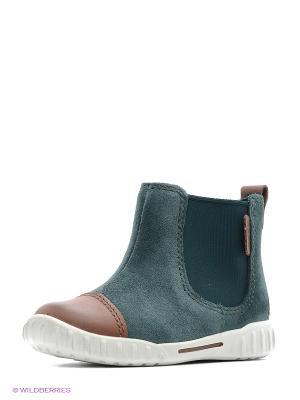 Ботинки ECCO. Цвет: коричневый, зеленый