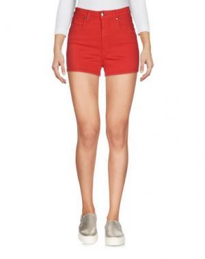 Джинсовые шорты (+) PEOPLE. Цвет: красный