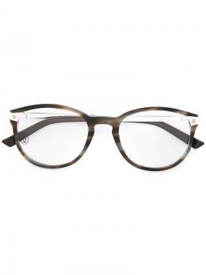 Очки Santos De Cartier. Цвет: коричневый