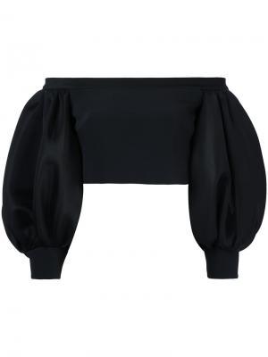 Укороченный топ с открытыми плечами David Koma. Цвет: чёрный