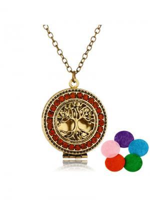 Арома-подвеска Древо жизни Honey Jewelry. Цвет: бронзовый