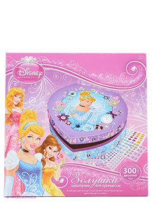 Disney Princess Мозаика-шкатулка Золушка Чудо-творчество. Цвет: розовый, голубой, фиолетовый