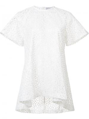 Свободная футболка Farina Rebecca Vallance. Цвет: белый