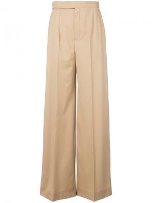 Расклешенные классические брюки Chloé. Цвет: коричневый