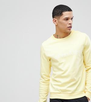 Calvin Klein Свитшот с логотипом. Цвет: желтый