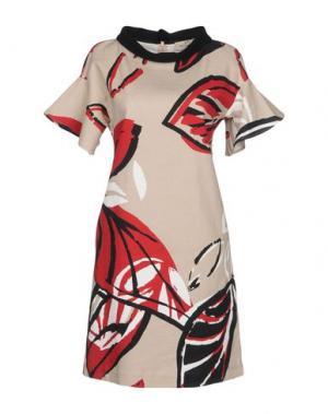 Короткое платье KI6? WHO ARE YOU?. Цвет: серый