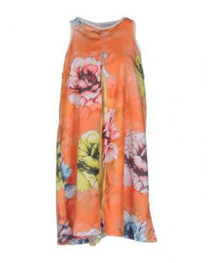 Короткое платье MARIUCCIA. Цвет: оранжевый