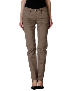Повседневные брюки 9.2 BY CARLO CHIONNA. Цвет: хаки