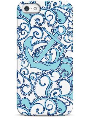 Чехол для Iphone5/5s Sahar. Цвет: белый, голубой, темно-синий