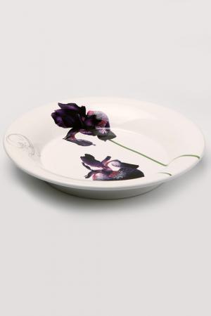Тарелка Черный ирис, 28 см Ceramiche Viva. Цвет: мульти