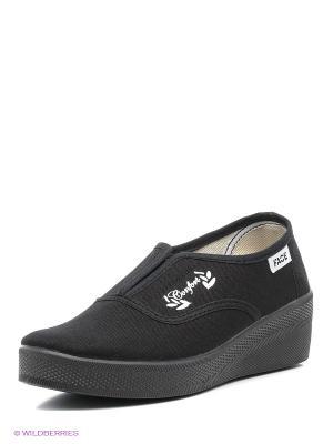 Обувь повседневная женская FACE. Цвет: черный