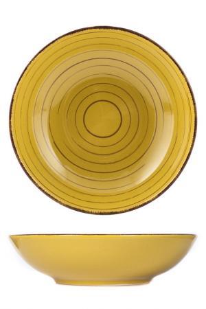 Тарелки глубокие 20 см 6 шт. H&H. Цвет: желтый