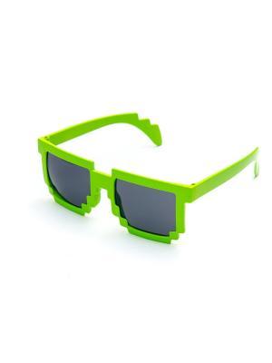 Пиксельные очки MASKBRO. Цвет: светло-зеленый