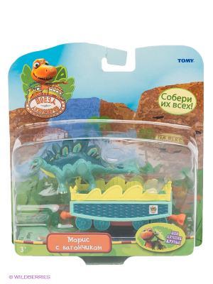 Поезд Динозавров, игровой набор 1Toy. Цвет: зеленый, желтый