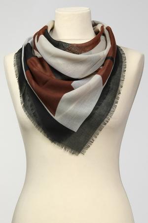 Платок Frantelli. Цвет: коричневый, черный