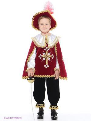 Карнавальный костюм Мушкетер Батик. Цвет: бордовый