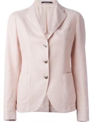 Классический пиджак в стиле casual Tagliatore. Цвет: розовый и фиолетовый