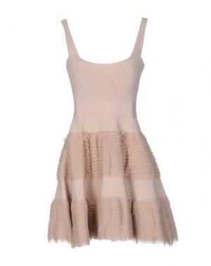Короткое платье ANTONINO VALENTI. Цвет: песочный