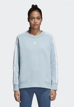 Свитшот adidas Originals. Цвет: голубой