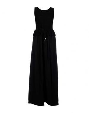 Длинное платье FABIANA FILIPPI. Цвет: черный