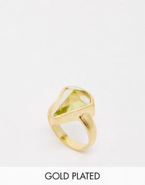 Taara Jewellery Кольцо с покрытием из 22-каратного золота. Цвет: золотой