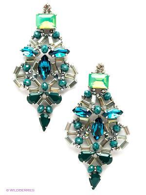 Серьги Kameo-bis. Цвет: зеленый, серый, синий