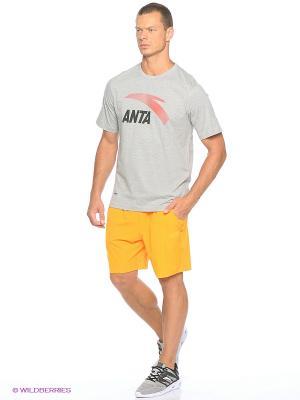 Шорты ANTA. Цвет: желтый
