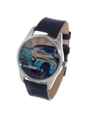 Часы Mitya Veselkov Ретро-автомобиль. Цвет: темно-зеленый
