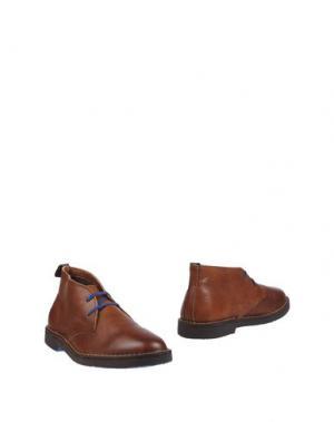 Полусапоги и высокие ботинки WALLY WALKER. Цвет: какао