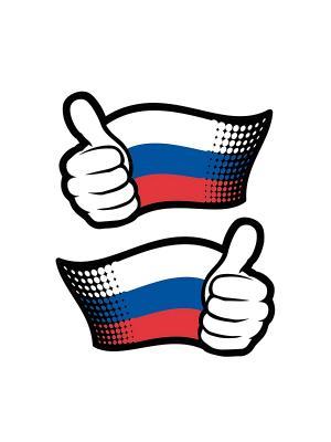 Россия, вперед! DECORETTO. Цвет: белый, синий, красный