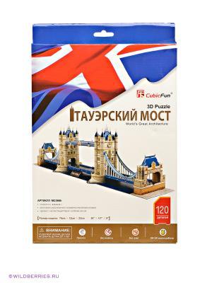 3D пазл Тауэрский мост CubicFun. Цвет: бежевый, синий