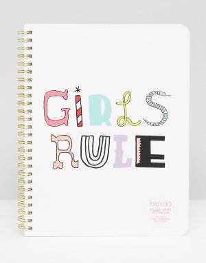 BAN DO Блокнот Ban.do Girls Rule. Цвет: мульти