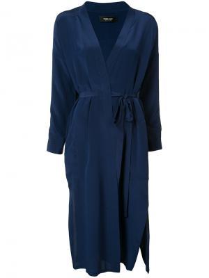 Платье с запахом Rachel Comey. Цвет: синий